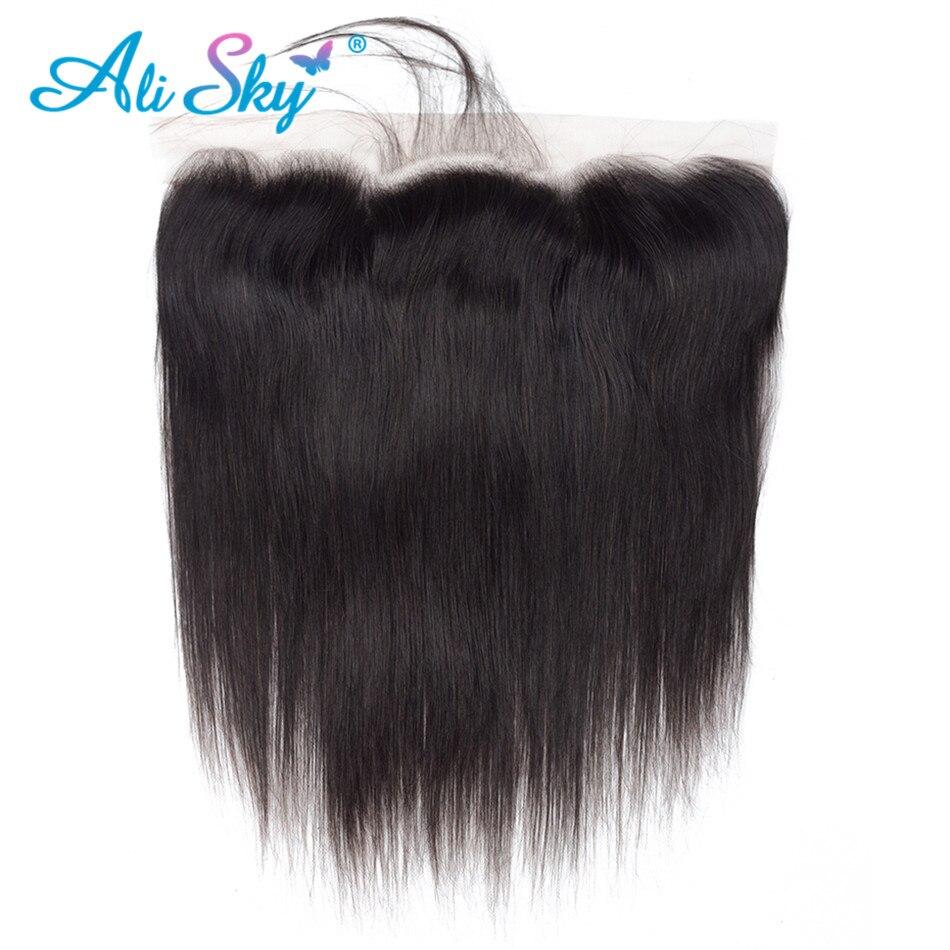Прямые волосы Alisky, перуанские волосы 13 х4, фронтальные волосы с предварительно выщипанной линией волос, человеческие волосы без повреждений...