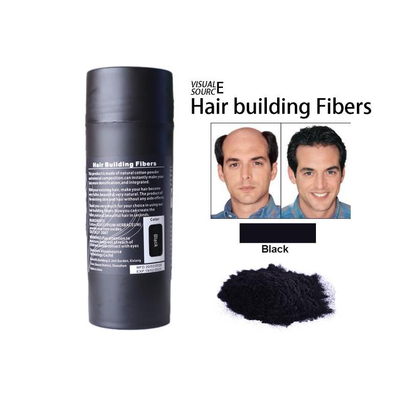 15g queda de cabelo recarga espessamento fibra pós de cabelo preto marrom substituível construção do cabelo fibras queratina cabelo densa capa