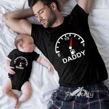 Verão família combinando camisa mãe filha pai filho crianças camiseta topos macacão roupas casual algodão família tshirt roupas
