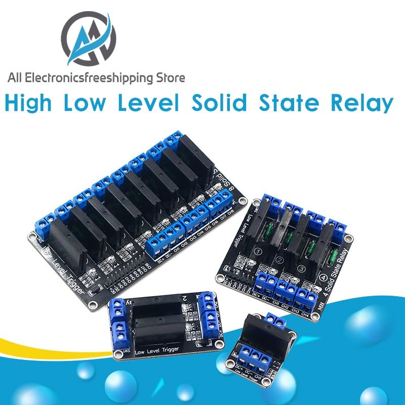 5 В реле 1 2 4 8 каналов OMRON SSR, Высокий Низкий уровень, твердотельный релейный модуль 250 В 2 а для Arduino