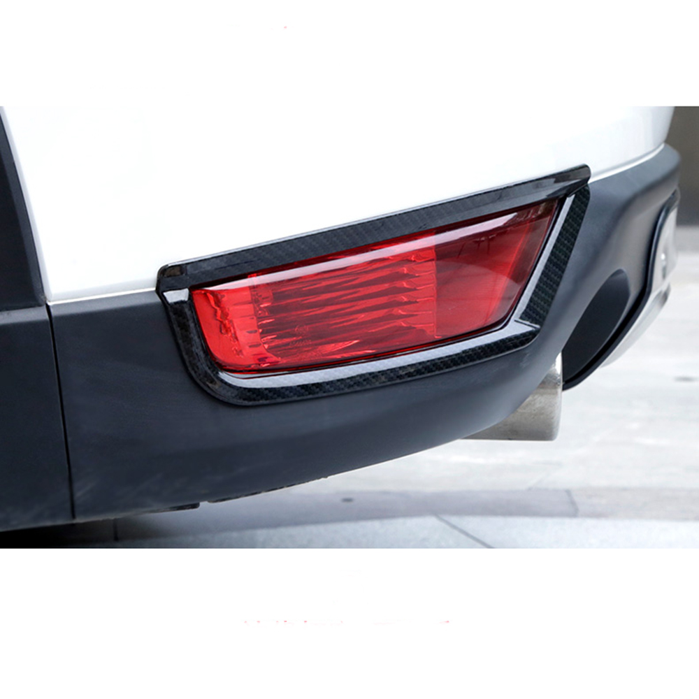 For <font><b>Mazda</b></font> CX-5 <font><b>CX5</b></font> 2017 2018 <font><b>2019</b></font> 2020 Chrome Rear Reflector Fog Light Lamp Cover Sticker Decoration Trim <font><b>Accessories</b></font> 2pcs image