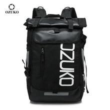 OZUKO Mode Männer Schule Rucksack 15,6 zoll Laptop Rucksack für Teenager Casual Student Schule Tasche Wasserdichte Reisetasche Mochila Tasche