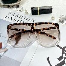 Lunettes de soleil carrées léopard pour hommes et femmes, surdimensionnées, à la mode, collection 2020