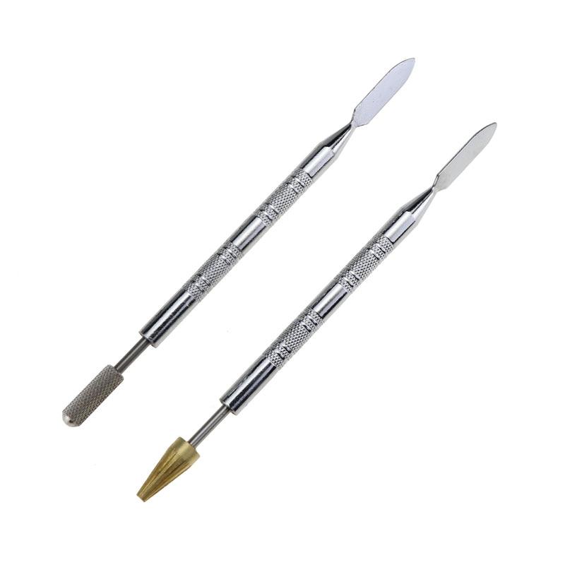 Двухсторонний аппликатор для карандашей, с латунными краями и кожаным маслом