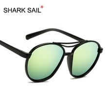 SHARK SAIL Sunglasses Women/Men Brand Designer Glasses Lady Round Luxury Retro Sun Glasses Vintage Mirror Oculos De Sol Gafas цена
