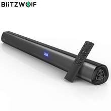 BlitzWolf BW SDB1 Pro Sound Bar TV Speaker 35 inch bluetooth V5.0 Soundbar with 60W Output 2.0 Channel Powerful Bass 4 Speakers
