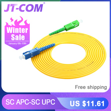10 Pcs SC/APC-SC/UPC Simplex 2.0mm PVC Fiber Optic