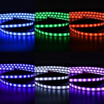 Hot  4pcs 15 Colors Flashing Model RGB LED Strip Under Car Tube Underglow Underbody Neon Light System Kit