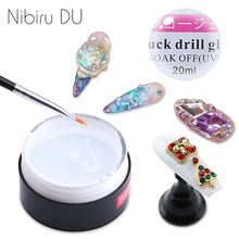 20ML/1pcs Nail Rhinestone Gel Glue Super Sticky UV Gel Nail Polish Glue Decor Tools For DIY Nail Art Crystal Decoration(China)