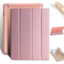 Dla iPad 2 3 4 etui Ultra Slim PU skóra + miękki tył Smart Cover stojak Auto Sleep/Wake up dla Apple iPad 4 ipad Coque tablet Case