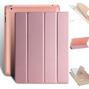 Image 1 - For iPad 2 3 4 Case Ultra Slim PU Leather+Soft Back Smart Cover Stand Auto Sleep/Wake up for Apple iPad 4 ipad Coque tablet case