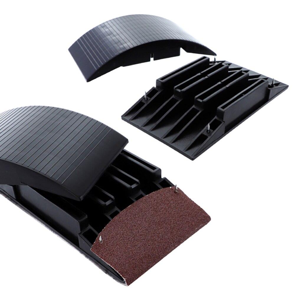 Polishing Non-Slip Sanding Block Dust Extraction Sponge Woodworking Sandpaper Holder Handheld Pad Disc Portable Abrasive Tools
