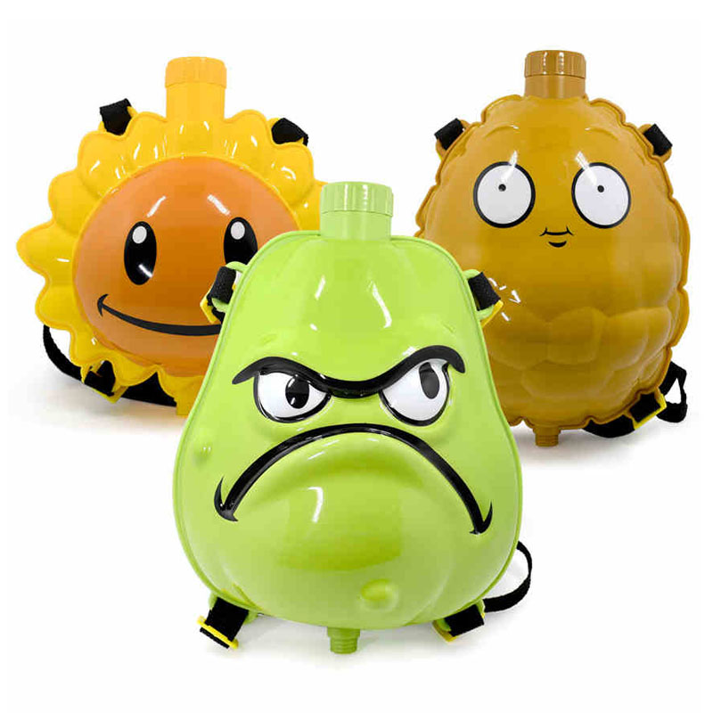 2020 New Water Gun Summer Pools Toy PVZ Plants Vs Zombies Backpack Outdoor Games Combat Water Guns Toys For Children