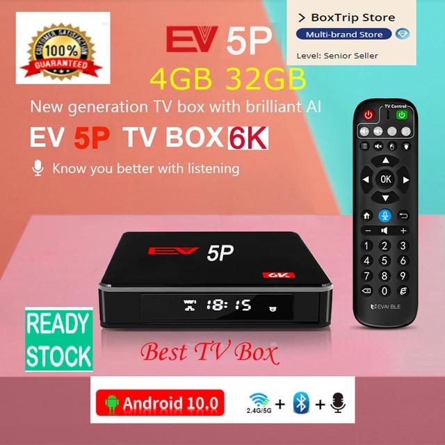 [Genuine]2021 EV tvbox evbox 5max 4G+128G EVAI voice control smart 6k android for UK Korea Japan SG HK CA AU Chinese Europe 2