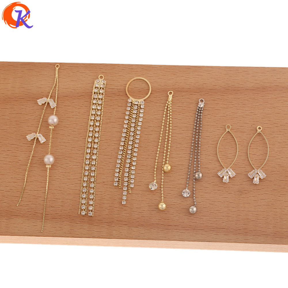 Cordial Design 50Pcs Jewelry Accessories/Connectors For Earrings/Rhinestone Claw Chain/Hand Made/CZ Earring Findings/DIY Making