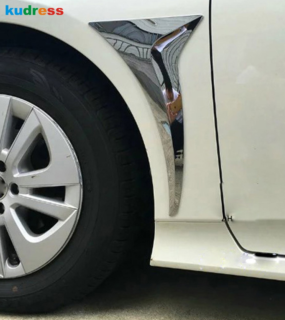 For Toyota Prius 2016 2017 ABS Chrome Car Body Front Rain Water Outlet Cover Frame Style Stickers Trims Accessories|chrome accessories|chrome car accessories|accessories for toyota - title=