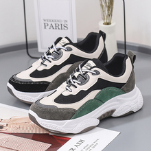 2020 Mix Color Women Sneakers Fashion High Bottom Women Platform Sneakers Casual Shoes Thick - Soled Sneakers Daddy Woman Shoes