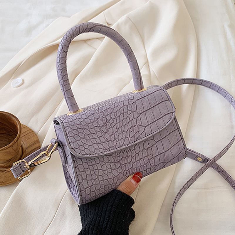 Crocodile Patent Mini Crossbody Bags For Women 2020  PU Leather Small Bag Handbag Sac A Main Femme Ladies Designer Evening Bags