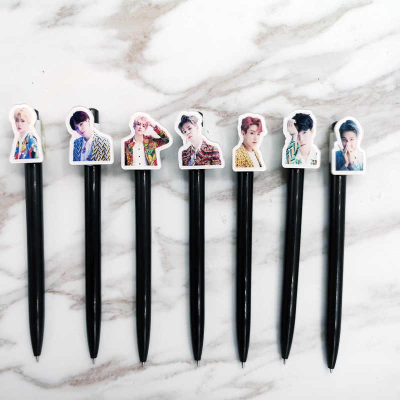 Kpop Bangtan boy bolígrafo LOVE You mismo álbum tinta negra 0,5mm bolígrafo kpop bangtan niños Juego de papelería de alta calidad