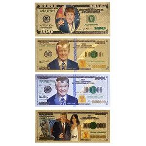 Donald Trump, 2020 faux billets de banque or, accessoires américains, 100 billets cadeaux pour hommes, vente en gros, livraison directe