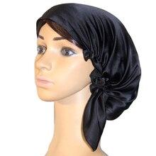 Women Silk Hair Care Night Cap Bonnet Sa