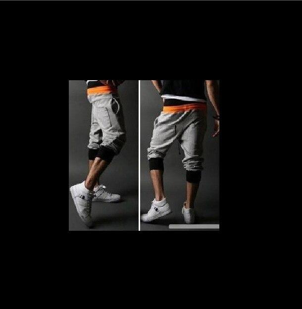 Men Fashion Casual Pants Contrast Color-Double Boxers Sports Capri Pants-Casual Pants K12