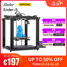 Ender 5 3D Printer High Precision Large Size Mainboard Cmagnetic Plate,Power Off Resume Easy Build Creality 3D Ender5