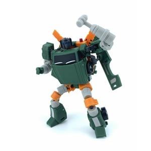 Image 2 - Carré magique ms jouets Transformation MS B10 MS B10 palan grue Mode Mini baladeur poche guerre Action figurine Robot jouets cadeau