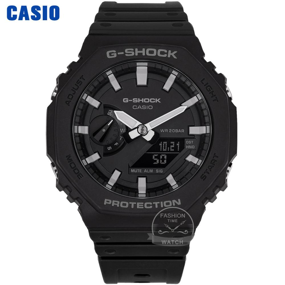 Zegarek Casio G Shock Ultra cienki Zegarek męski Top Luxury Set Double LED Military Chronograph Zegarek męski Relogio Zegarek cyfrowy 200 Wodoodporny zegarek kwarcowy Luminous Sport G-Shock Zegarki z włókna węglowego