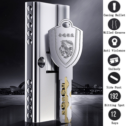 Super C-class lock cylinder Unibody Shell Anti violence double bullet Milled groove Side post anti-theft core