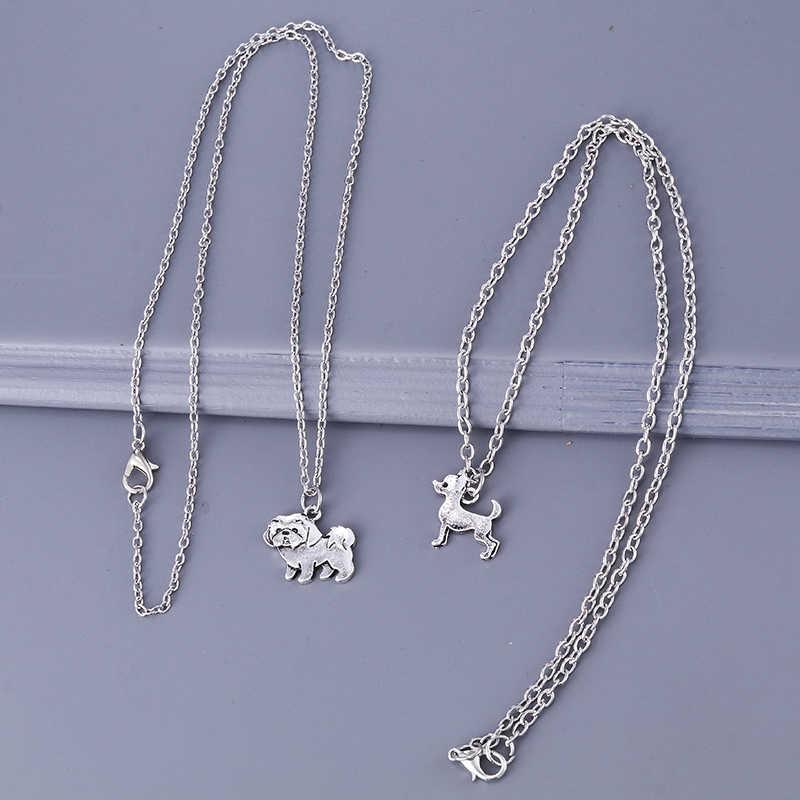 Collar de plata antigua Bohemia de alta calidad Shih Tzu collar bohemio Kolye collares Joyeria collares de declaración para mujeres y hombres joyería