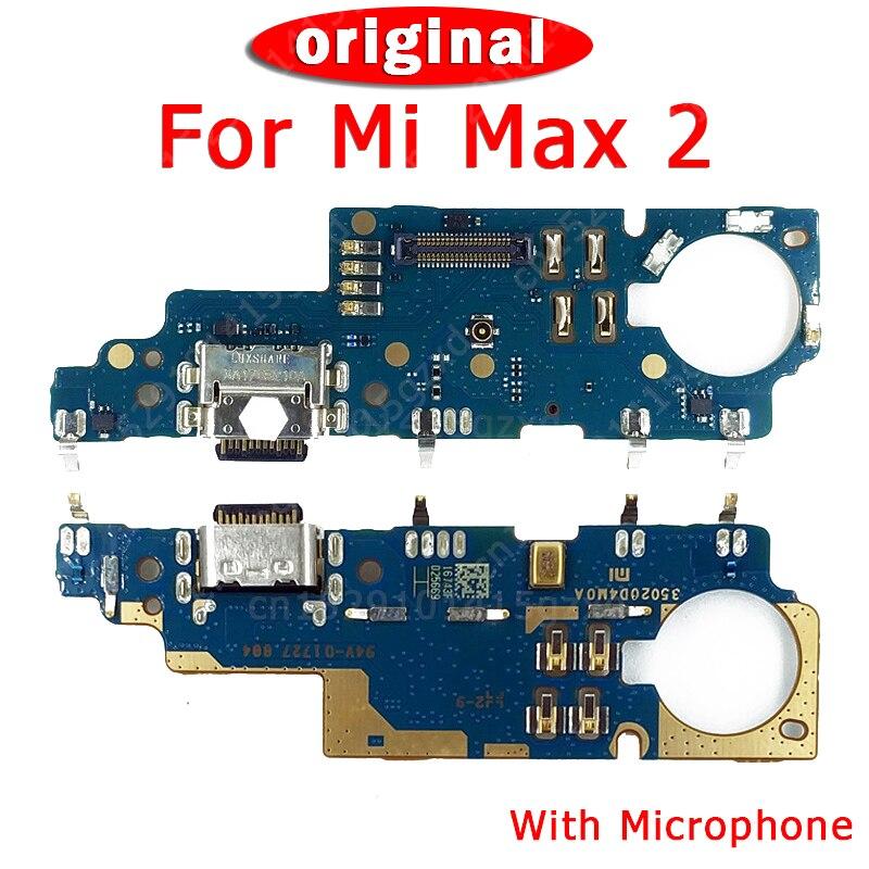 Original For Xiaomi Mi Max 2 Charger Board Dork Connector USB Plug Charging Port PCB Ribbon Flex Cable For Mi Max 2 Spare Parts