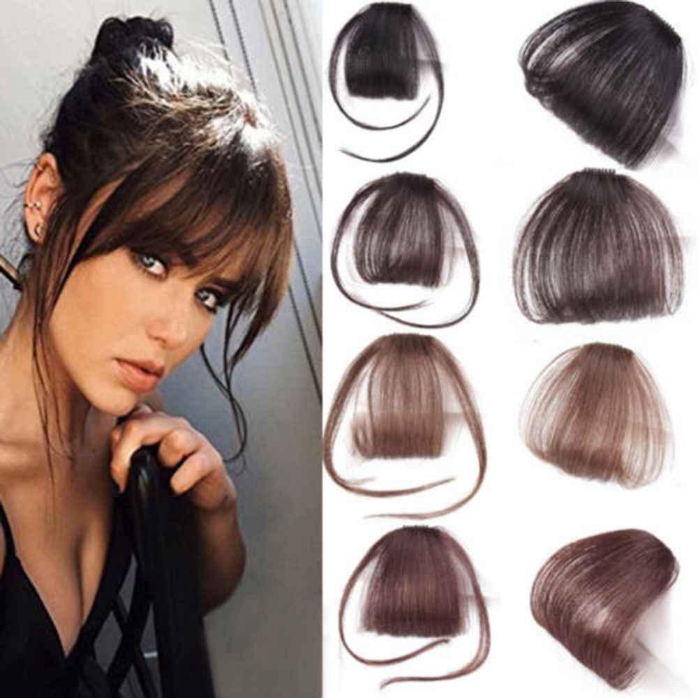 1pcs de alta qualidade grampos de cabelo franja peças de cabelo sintético falso no clipes frente puro bang bom estilo de cabelo acessórios