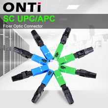 ONTi 200 قطعة SC UPC ألياف ضوئية أحادية الوضع سريع موصل SC APC FTTH SC موصل سريع SC محول المجال الجمعية