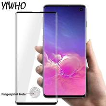 3D Curved Tempered Glas For Samsung Galaxy Note 10 Plus Protective Glass On For Samsung S10 S9 S 10e 9 Screen Protector Film(China)