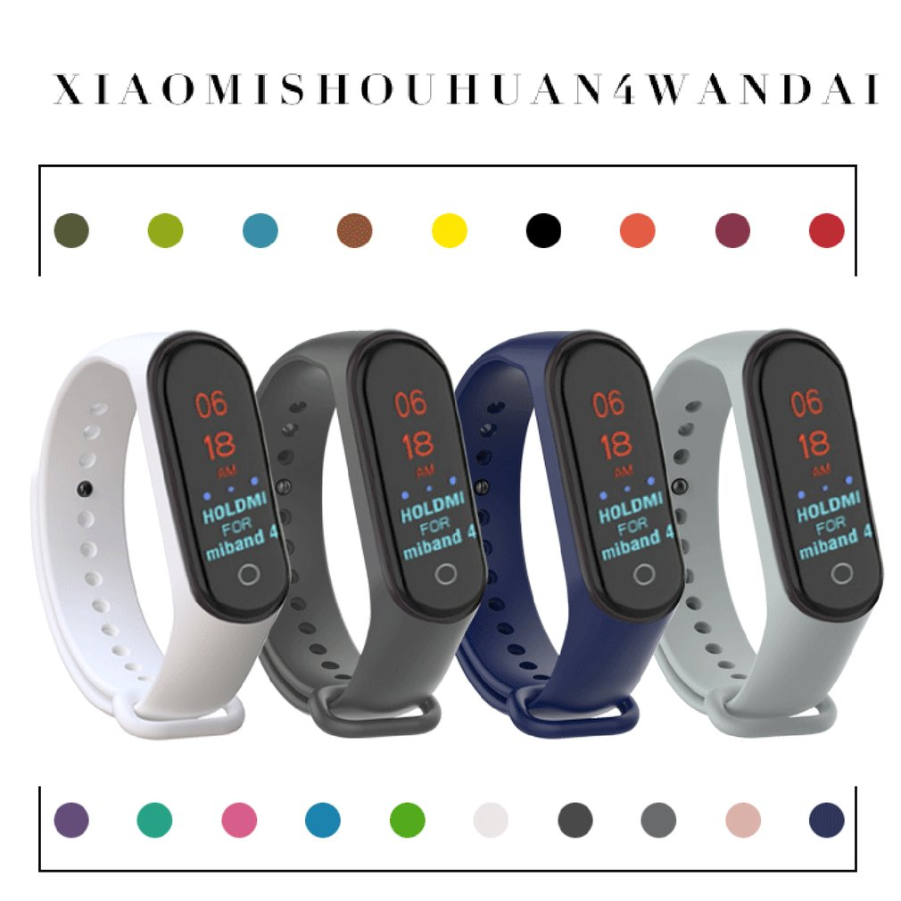 Silicone Strap Wristband For Xiaomi Mi Band 3/4 Replacement Sport Bracelet Two-Tone Replacement Strap