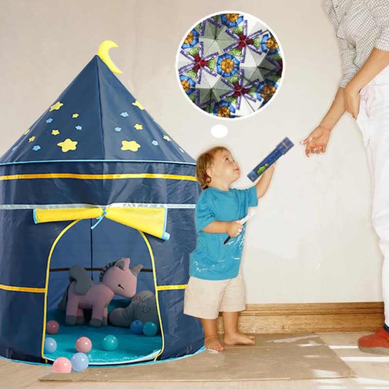 Детская палатка-Типи Детские Портативные игрушечные палатки для малышей игровой домик для детей, для мальчиков и девочек; для дома и улицы складной замок детская палатка teepee подарок
