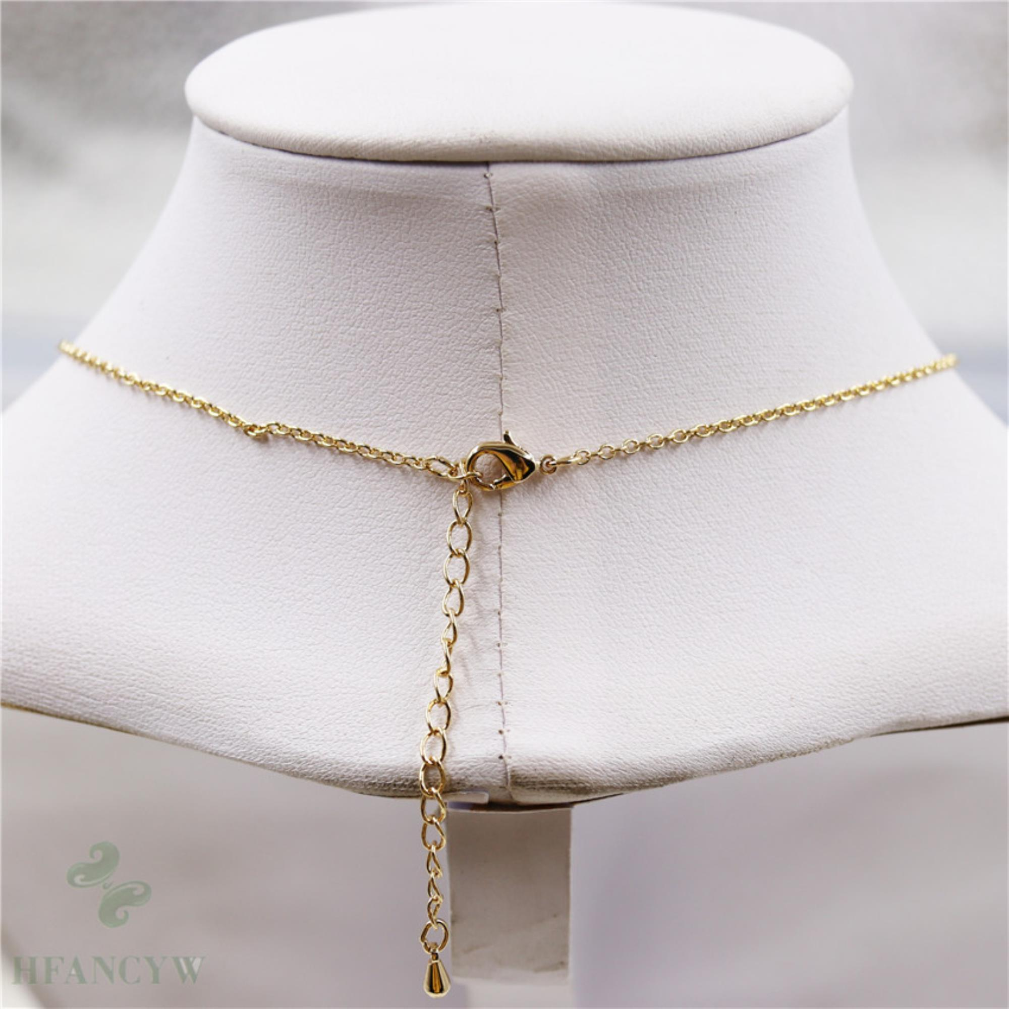 14-15mm Natural Purple Baroque Pearl Necklace 18 inch Cultured Jewelry Chain
