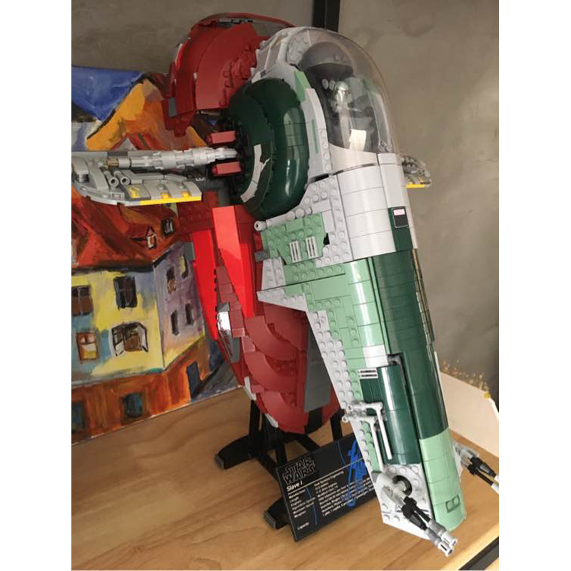 05037 2067pcs Space Wars Universe New Slave I Model Building Blocks Great Gifts Sets Playset Kit Gifts Compatible with 75060