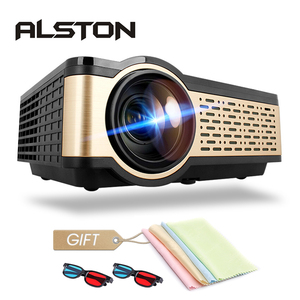 ALSTON W5 HD LCD Mini Projector 4000 Lumens Android WIFI Bluetooth Portable Cinema Support 1080p HDMI USB VGA Airplay with gift(China)