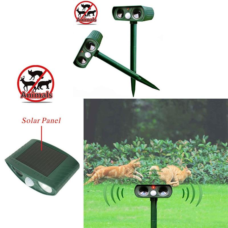 Multi-function Bird Repeller Device Animal Repeller Solar Energy Animal Driver Garden Outdoor Use Ultrasonic Solar