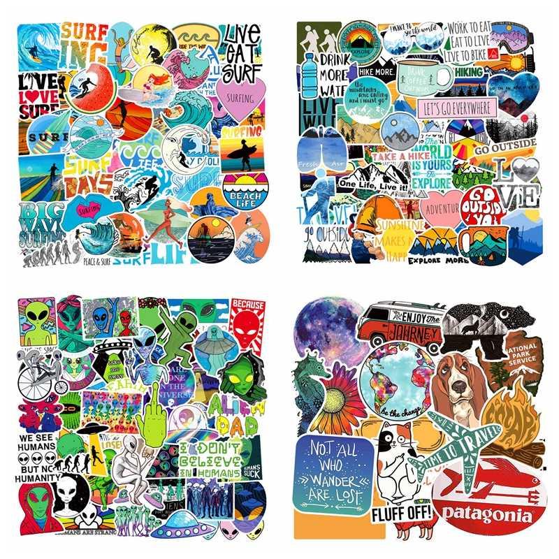 100Pcs Adesivos crianças Pacote Anime Graffiti Animal Adesivos de Laptop À Prova D' Água Brinquedos Para Crianças Miúdos Engraçados Etiqueta de Bagagem Mala