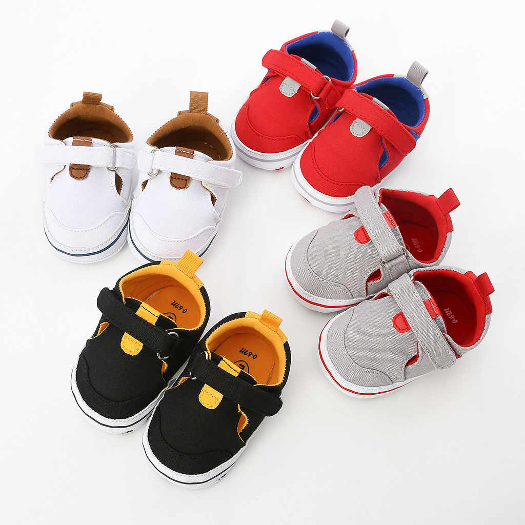 Baby Girl Boys Shoes Mixed Colors Hook&Loop Fashion First Walkers Kid Shoes