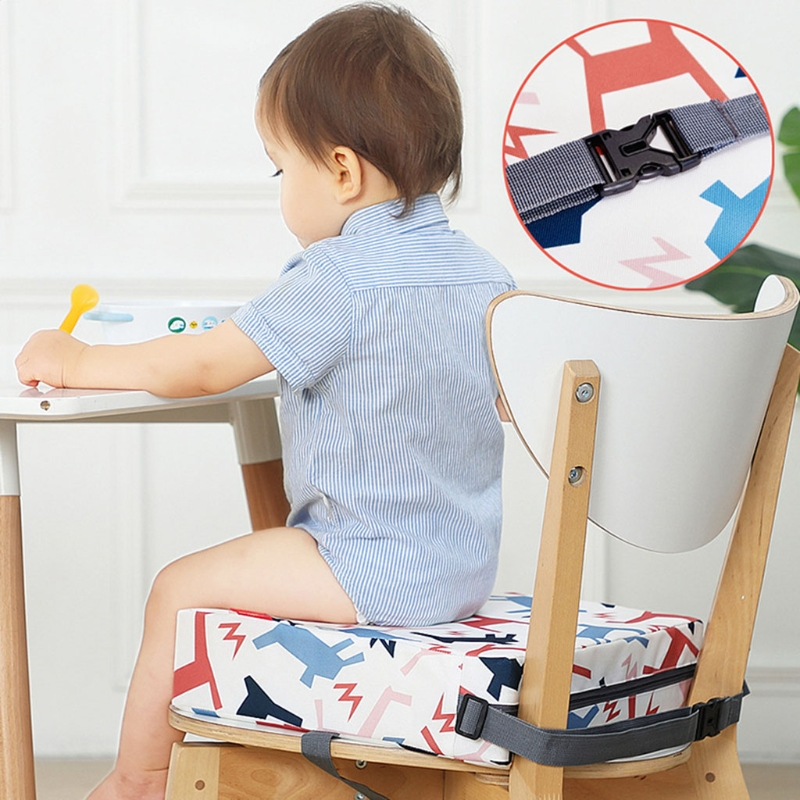 Child Increased Chair Pad Baby Dining Seat Cushion Removable Highchair Booster XX9F