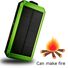 Waterproof Solar Charger Ports External Powerbank10000mAh Power Bank  for Xiaomi Smartphone with LED Light lighter