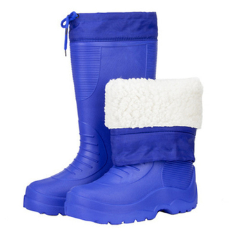 Swyivy Eva Boots Men Shoes Waterpoof Rainboots for Men for Rain Warm Fur Winter Boots High 2020 New Male Tall Boots with Fur hot shoes men boots fashion rainboots slip water shoes short rubber rain boots men bot garden fishing boots waterproof for men