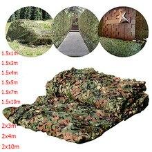 1.5x3m /2x10m chasse militaire Camouflage filets forêt armée formation Camouflage filet bâches de voiture tente ombre Camping abri soleil