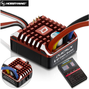 Hobbywing QuicRun 1:10 1/8 WP Crawler Brush Brushed 80A Electronic Speed Controller Waterproof ESC With Program card LED BEC ESC(China)