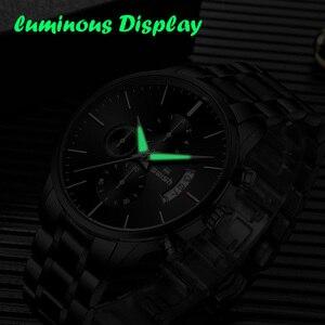 Image 4 - SAUSEN Uhr Männer 2020 Wasserdichte Edelstahl Mode Sport Quarzuhr Uhr männer Uhren Top marke Luxus Mann Armbanduhr
