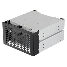 3.5 to 5.25 Three-Disc Hard Disk Cages 2 Chassis Drives in the Chassis 3.5-Inch Hard Disk Box Computer Storage Expansion